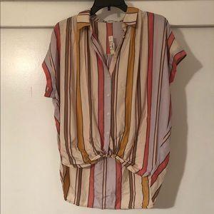 Madewell Women's short sleeve striped button down